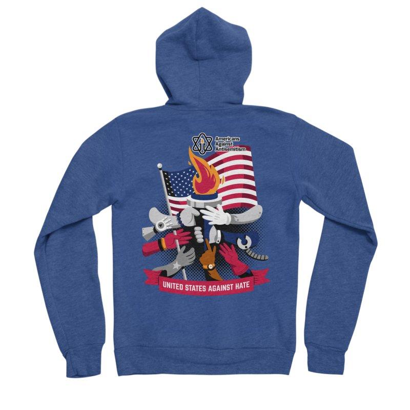 United States Against Hate Women's Sponge Fleece Zip-Up Hoody by Americans Against Antisemitism's Artist Shop
