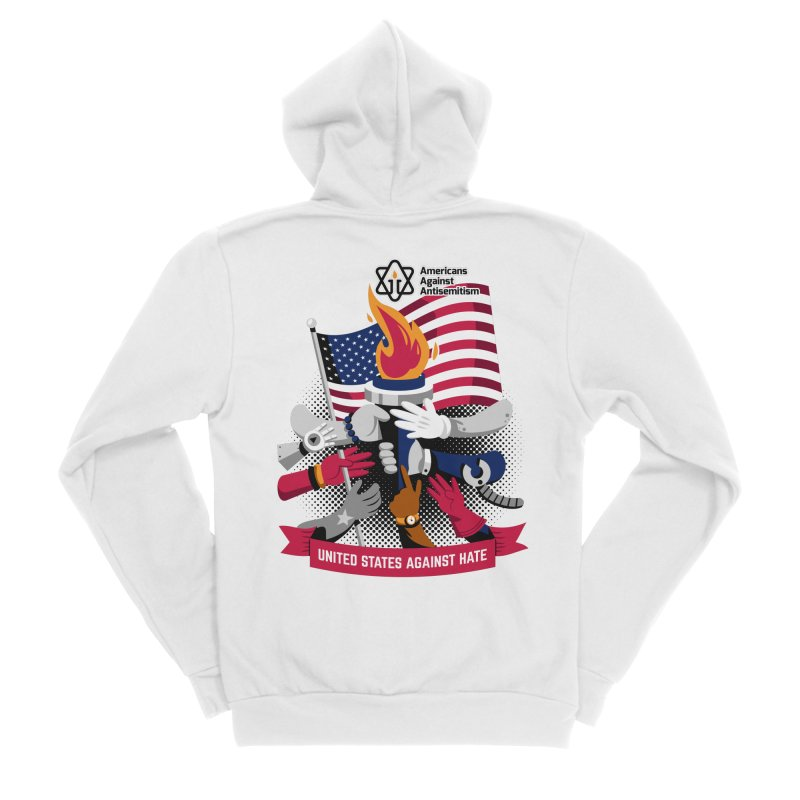 United States Against Hate Men's Sponge Fleece Zip-Up Hoody by Americans Against Antisemitism's Artist Shop