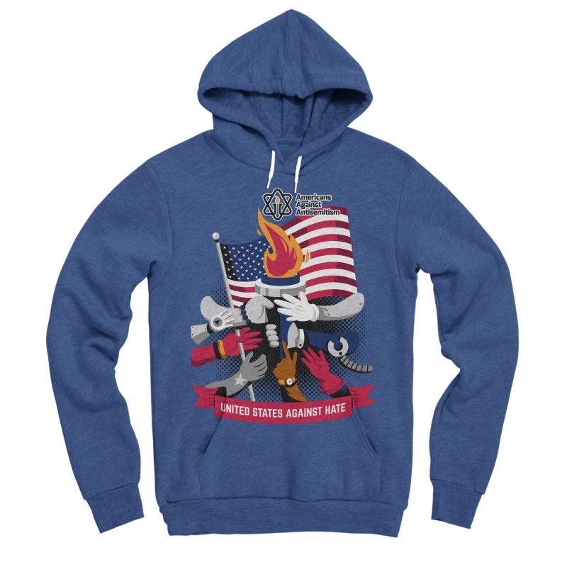 United States Against Hate Men's Sponge Fleece Pullover Hoody by Americans Against Antisemitism's Artist Shop