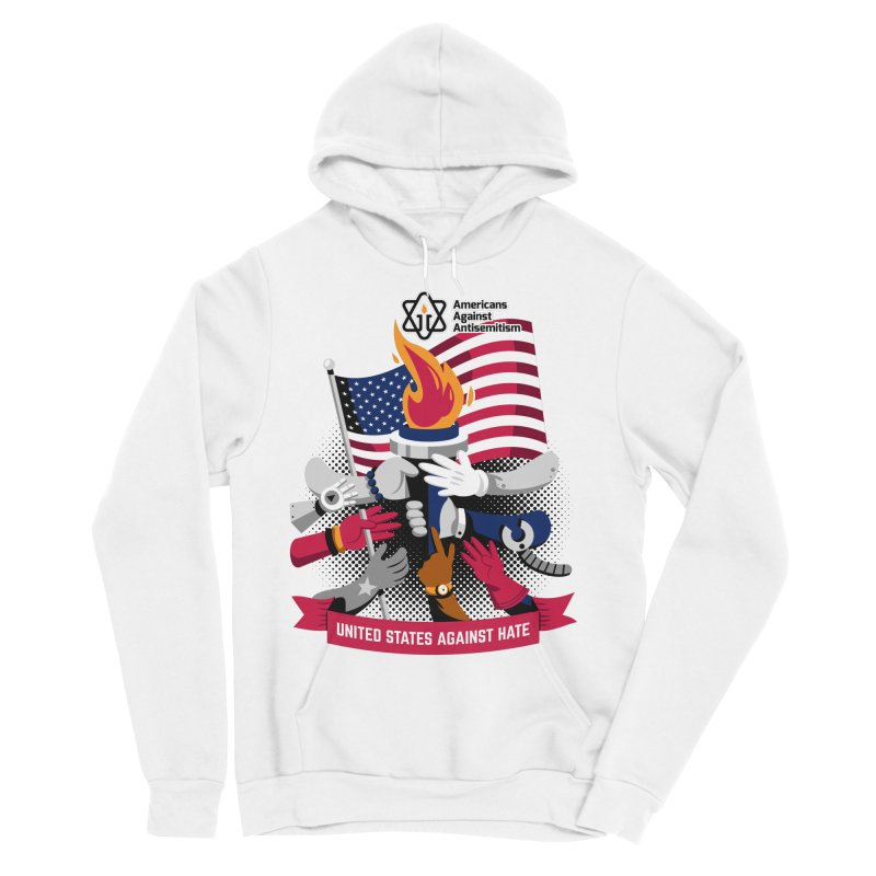 United States Against Hate Men's Sponge Fleece Pullover Hoody by Americans Against Antisemitism's Artist Shop