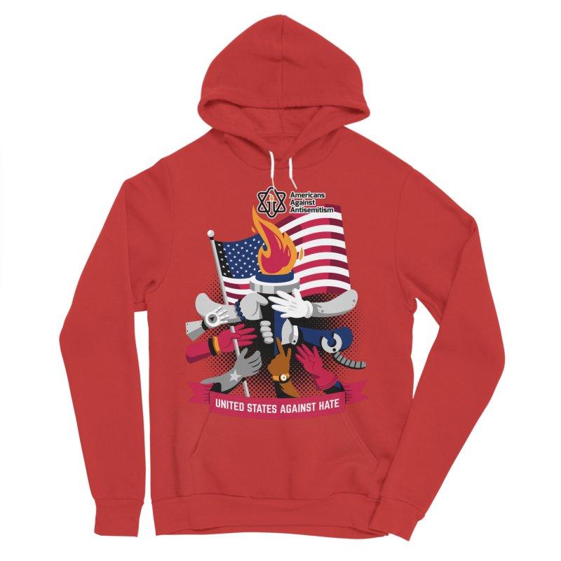 United States Against Hate Women's Sponge Fleece Pullover Hoody by Americans Against Antisemitism's Artist Shop
