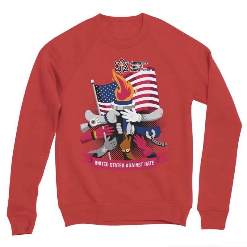 United States Against Hate Men's Sponge Fleece Sweatshirt by Americans Against Antisemitism's Artist Shop