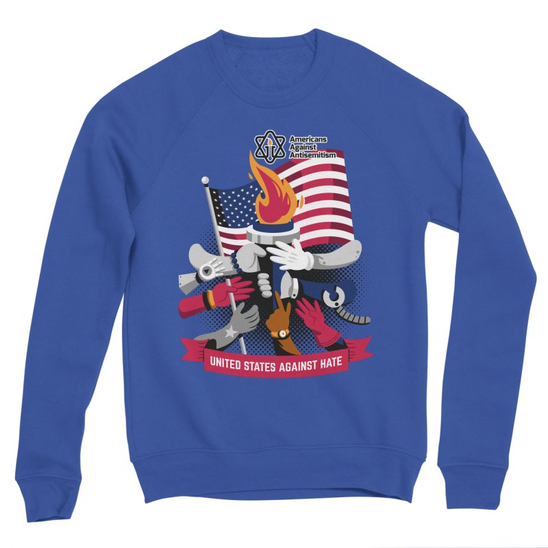 United States Against Hate Men's Sweatshirt by Americans Against Antisemitism's Artist Shop