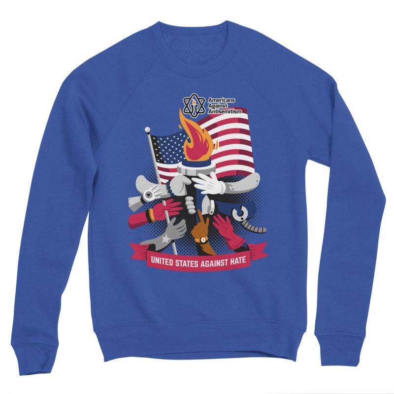 United States Against Hate Women's Sponge Fleece Sweatshirt by Americans Against Antisemitism's Artist Shop