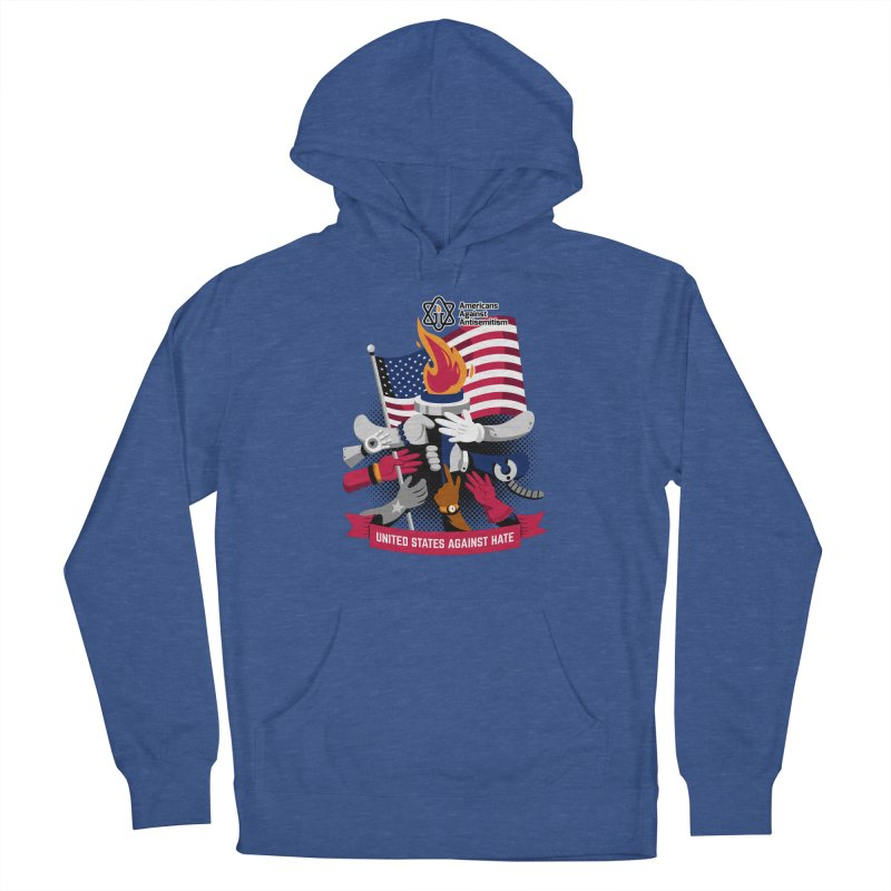 United States Against Hate Men's Pullover Hoody by Americans Against Antisemitism's Artist Shop