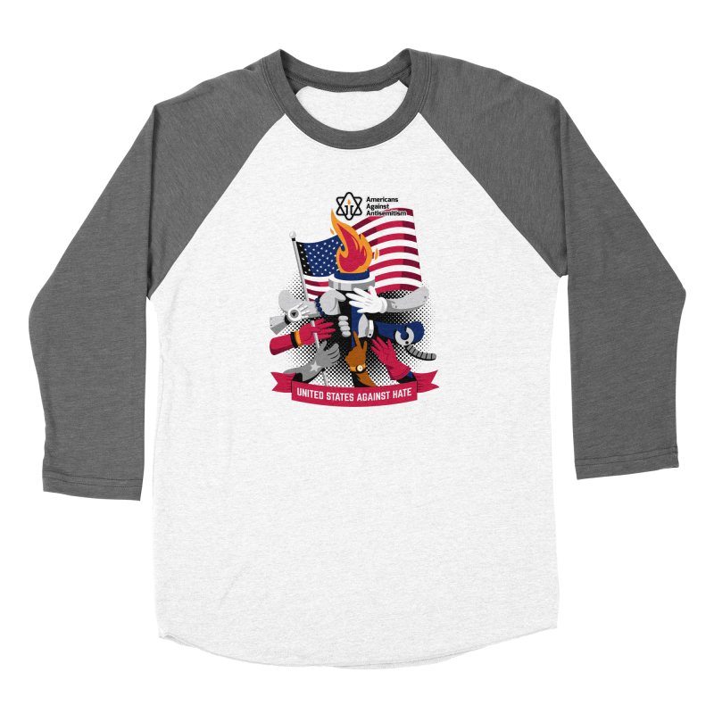 United States Against Hate Women's Longsleeve T-Shirt by Americans Against Antisemitism's Artist Shop