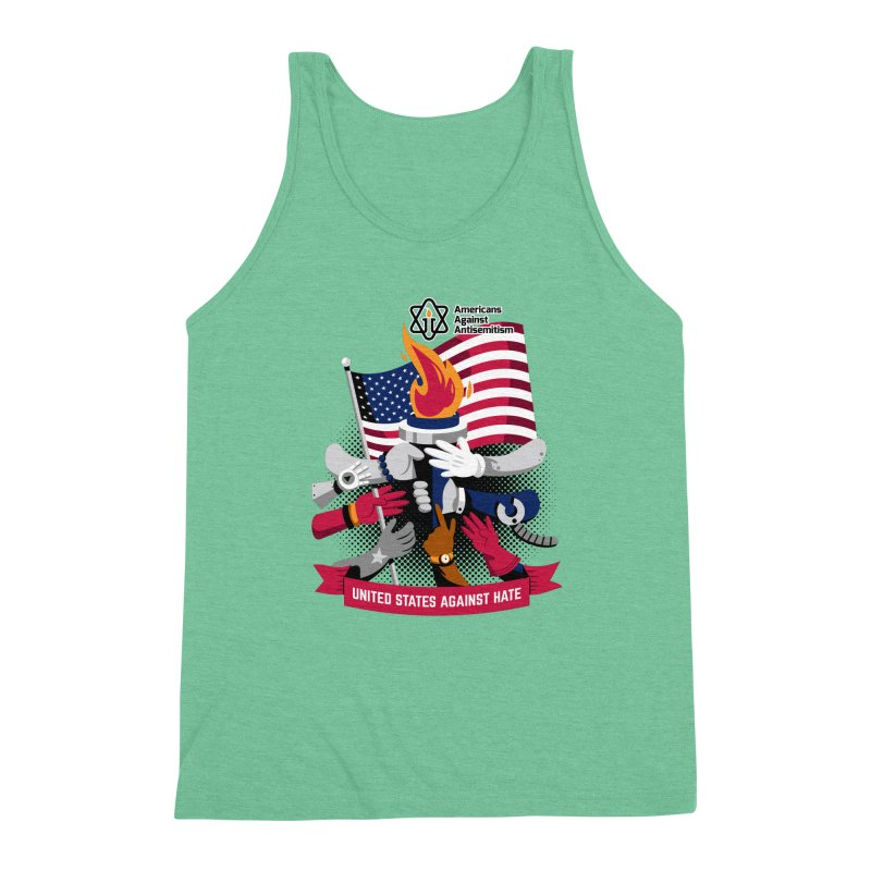 United States Against Hate Men's Triblend Tank by Americans Against Antisemitism's Artist Shop