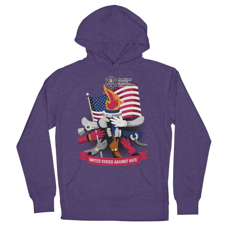 United States Against Hate Women's French Terry Pullover Hoody by Americans Against Antisemitism's Artist Shop