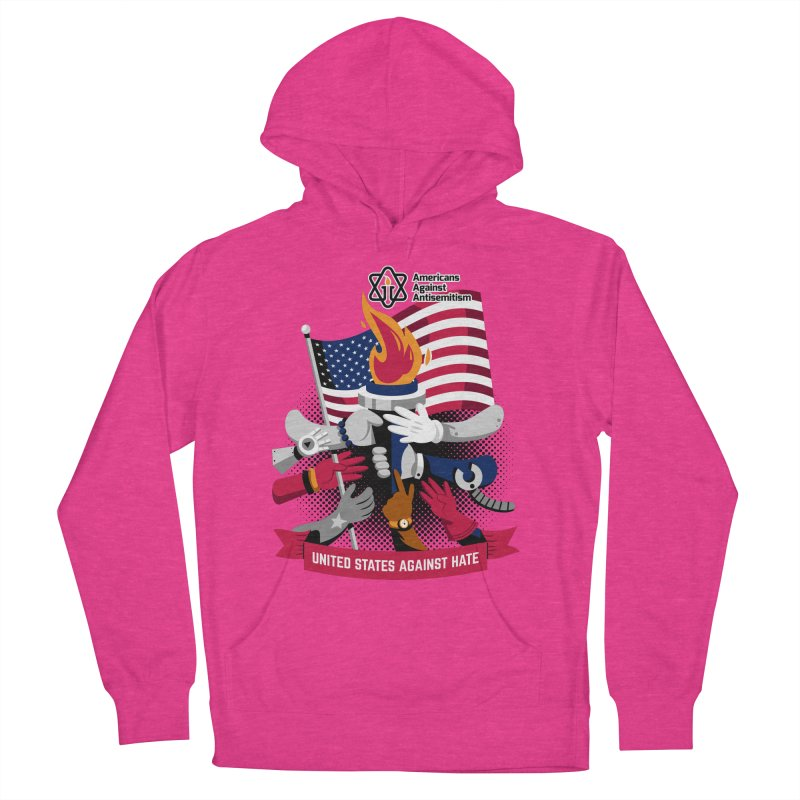 United States Against Hate Men's French Terry Pullover Hoody by Americans Against Antisemitism's Artist Shop