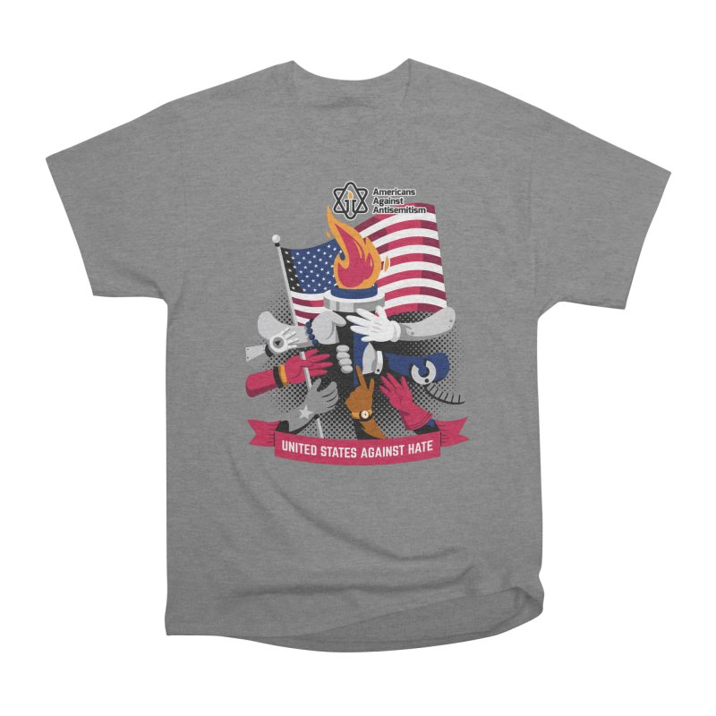 United States Against Hate Women's Heavyweight Unisex T-Shirt by Americans Against Antisemitism's Artist Shop