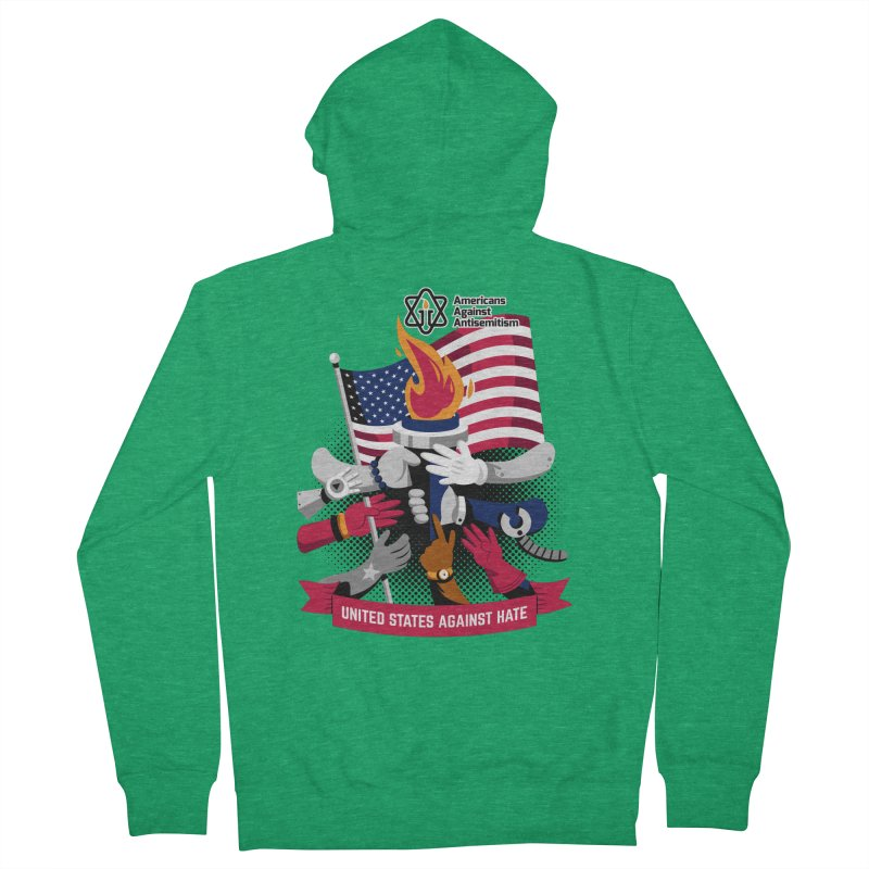 United States Against Hate Women's Zip-Up Hoody by Americans Against Antisemitism's Artist Shop