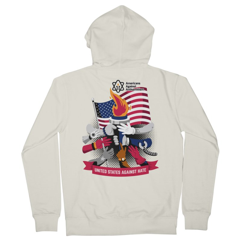 United States Against Hate Men's French Terry Zip-Up Hoody by Americans Against Antisemitism's Artist Shop