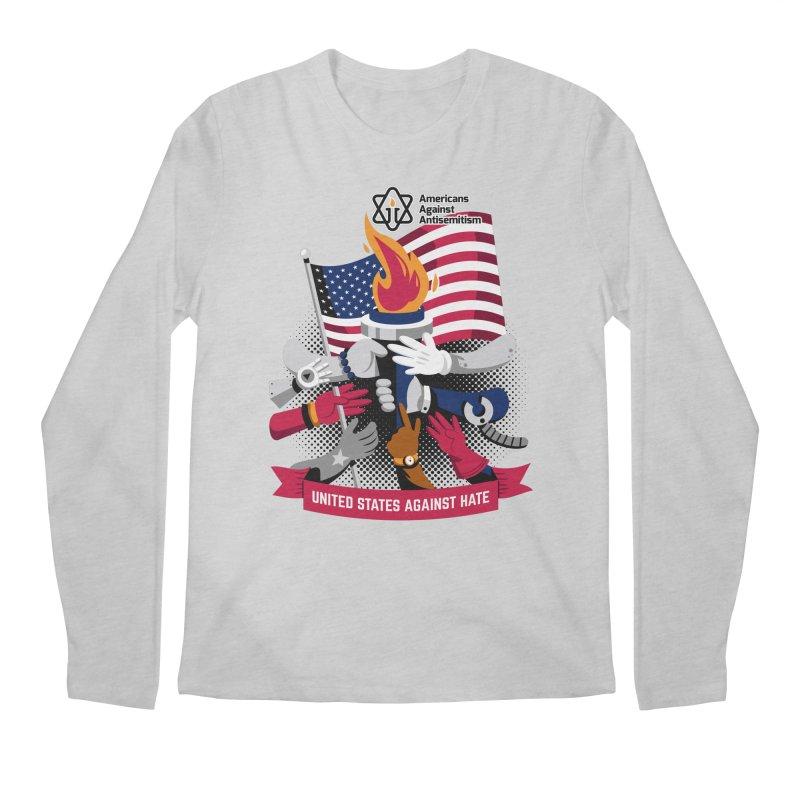 United States Against Hate Men's Regular Longsleeve T-Shirt by Americans Against Antisemitism's Artist Shop