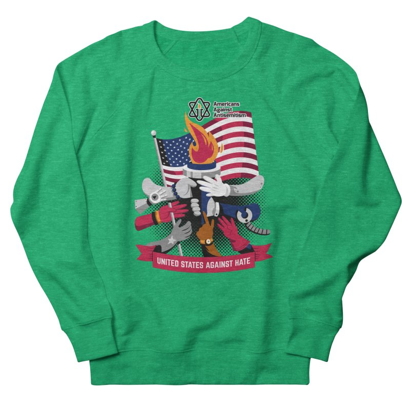 United States Against Hate Women's Sweatshirt by Americans Against Antisemitism's Artist Shop