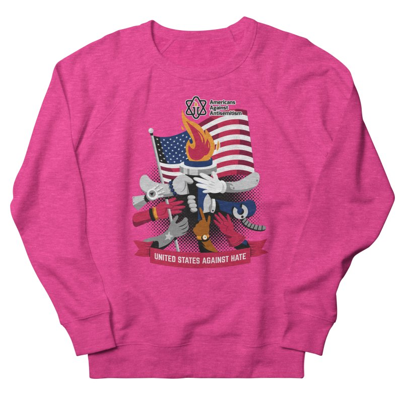 United States Against Hate Women's French Terry Sweatshirt by Americans Against Antisemitism's Artist Shop