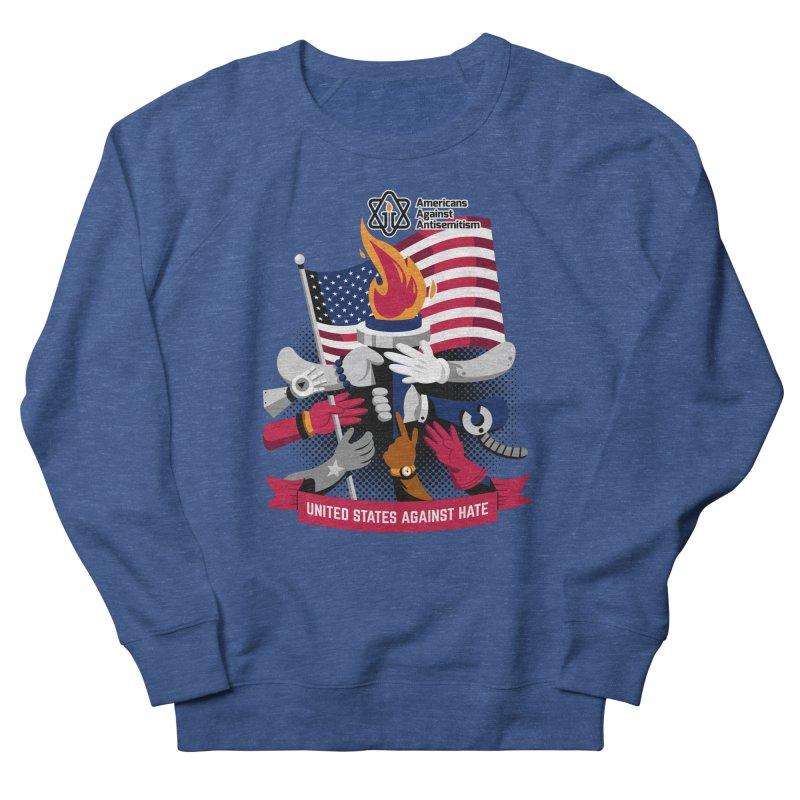 United States Against Hate Men's Sweatshirt by Americans Against Antisemitism's Artist Shop