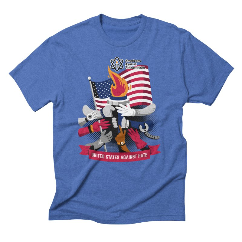 United States Against Hate Men's T-Shirt by Americans Against Antisemitism's Artist Shop