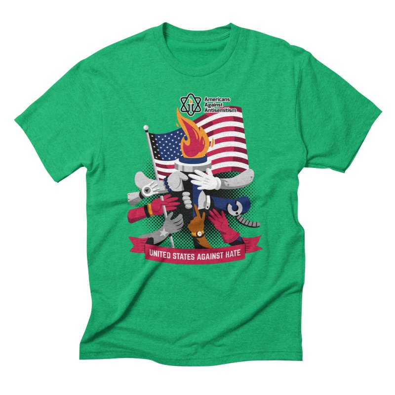 United States Against Hate Men's Triblend T-Shirt by Americans Against Antisemitism's Artist Shop