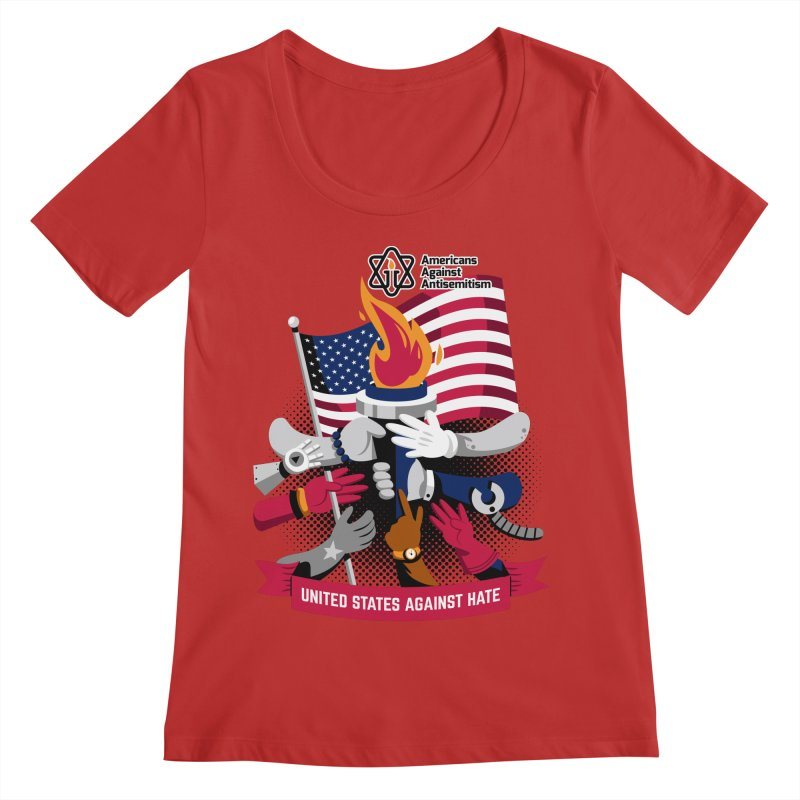 United States Against Hate Women's Regular Scoop Neck by Americans Against Antisemitism's Artist Shop