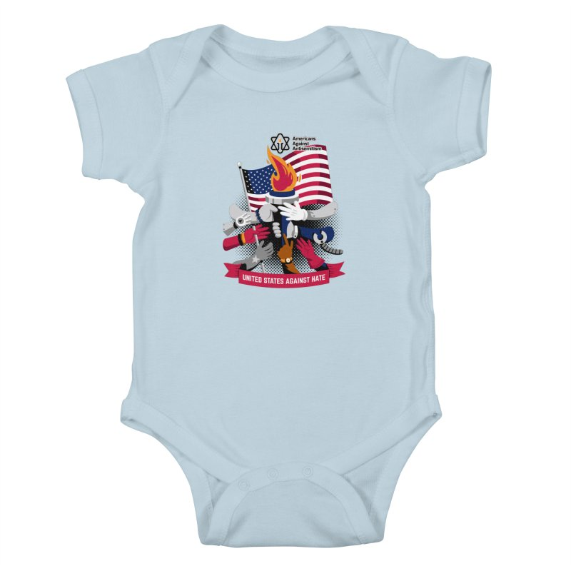 United States Against Hate Kids Baby Bodysuit by Americans Against Antisemitism's Artist Shop