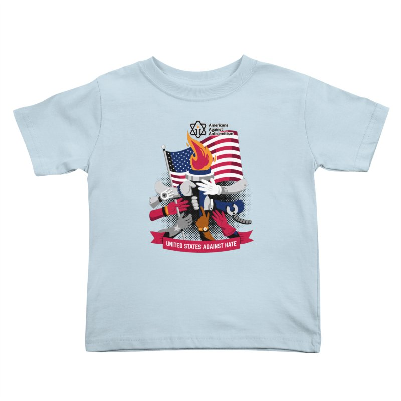 United States Against Hate Kids Toddler T-Shirt by Americans Against Antisemitism's Artist Shop