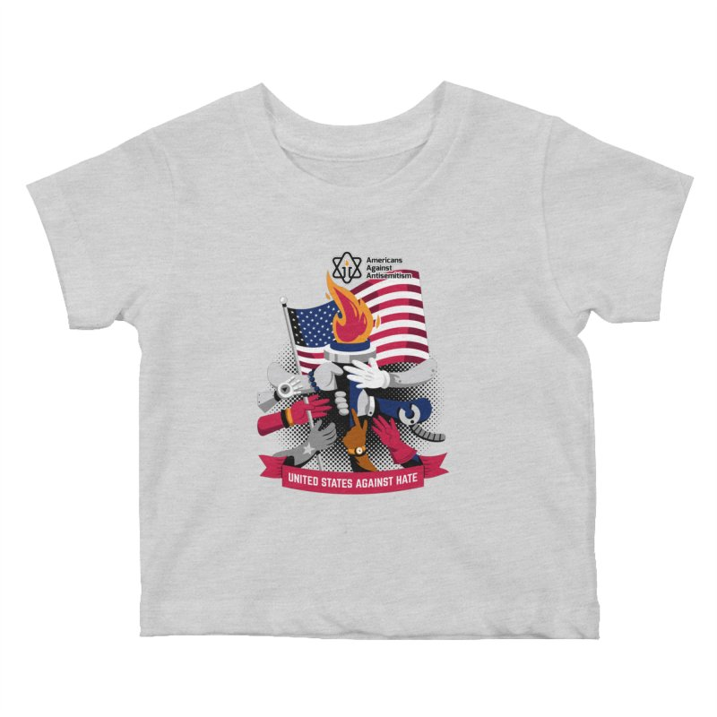 United States Against Hate Kids Baby T-Shirt by Americans Against Antisemitism's Artist Shop