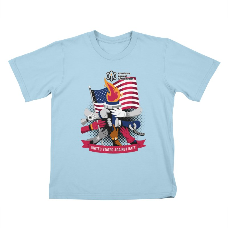 United States Against Hate Kids T-Shirt by Americans Against Antisemitism's Artist Shop
