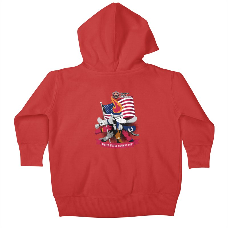 United States Against Hate Kids Baby Zip-Up Hoody by Americans Against Antisemitism's Artist Shop