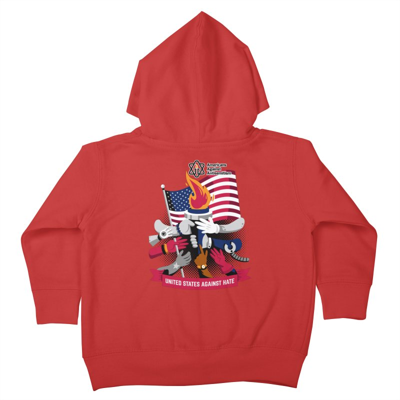 United States Against Hate Kids Toddler Zip-Up Hoody by Americans Against Antisemitism's Artist Shop
