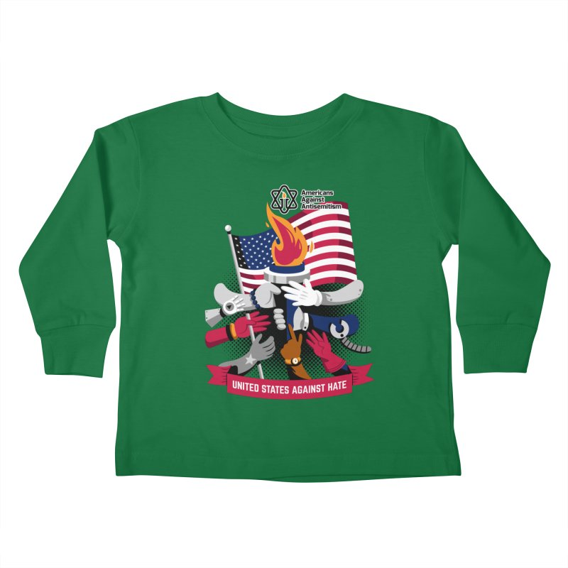 United States Against Hate Kids Toddler Longsleeve T-Shirt by Americans Against Antisemitism's Artist Shop