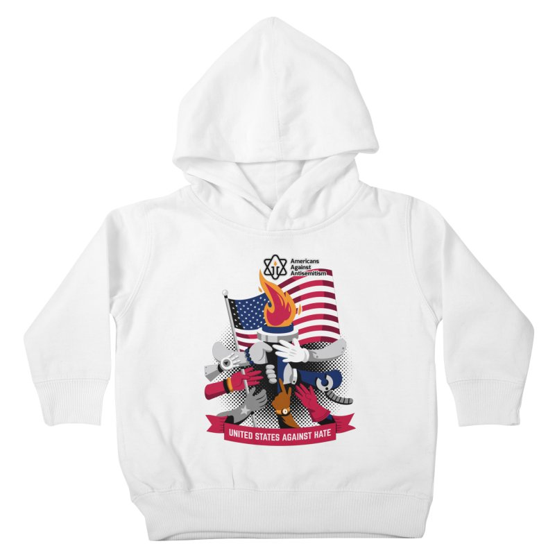 United States Against Hate Kids Toddler Pullover Hoody by Americans Against Antisemitism's Artist Shop