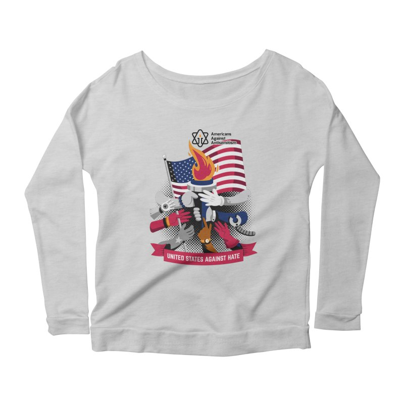 United States Against Hate Women's Scoop Neck Longsleeve T-Shirt by Americans Against Antisemitism's Artist Shop