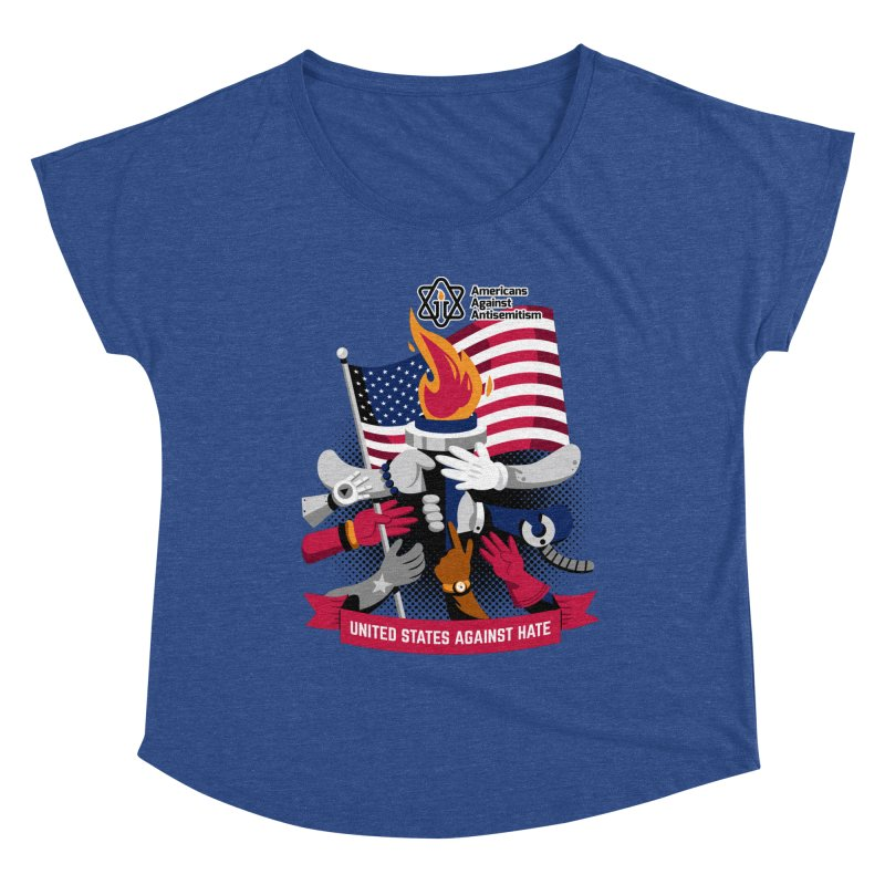 United States Against Hate Women's Dolman Scoop Neck by Americans Against Antisemitism's Artist Shop