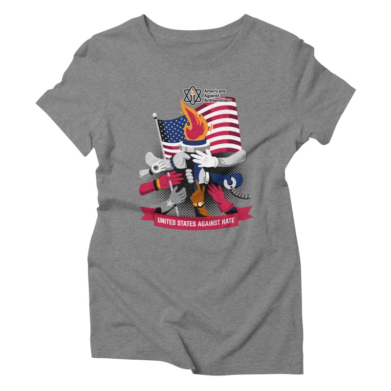 United States Against Hate Women's Triblend T-Shirt by Americans Against Antisemitism's Artist Shop