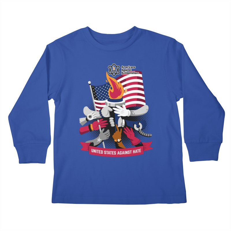 United States Against Hate Kids Longsleeve T-Shirt by Americans Against Antisemitism's Artist Shop