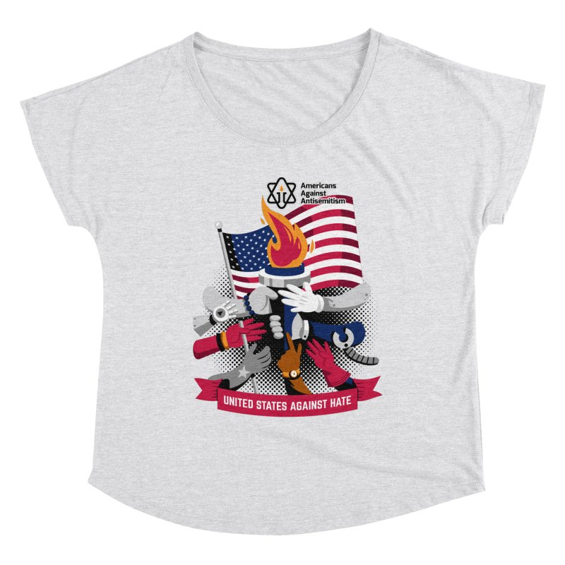 United States Against Hate Women's Scoop Neck by Americans Against Antisemitism's Artist Shop
