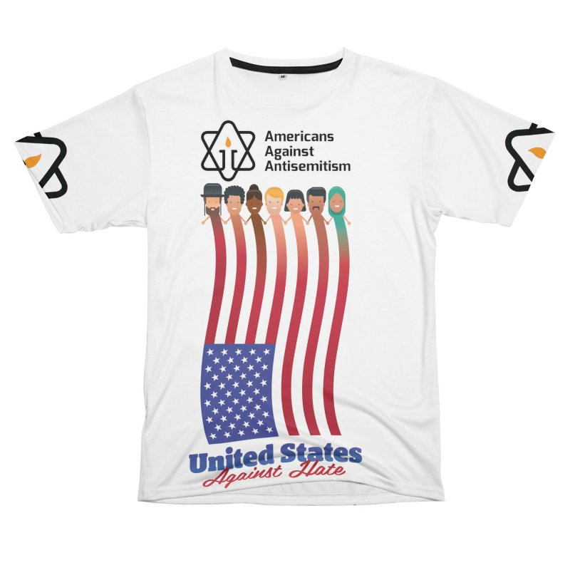 United Faces Against Hate Women's Unisex T-Shirt Cut & Sew by Americans Against Antisemitism's Artist Shop
