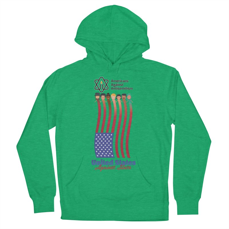 United Faces Against Hate Men's French Terry Pullover Hoody by Americans Against Antisemitism's Artist Shop