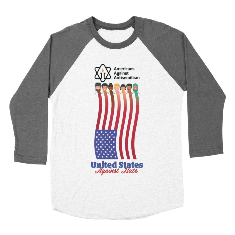 United Faces Against Hate Women's Baseball Triblend Longsleeve T-Shirt by Americans Against Antisemitism's Artist Shop