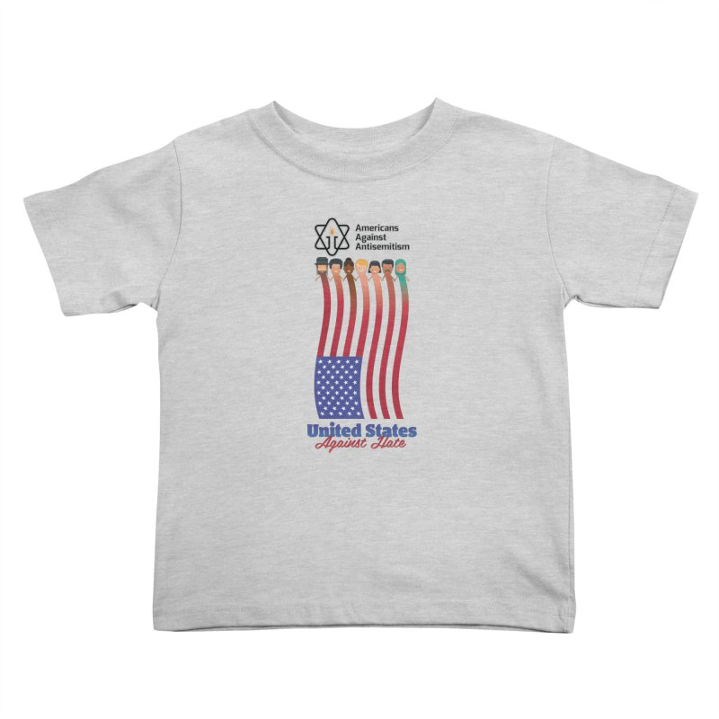 United Faces Against Hate Kids Toddler T-Shirt by Americans Against Antisemitism's Artist Shop