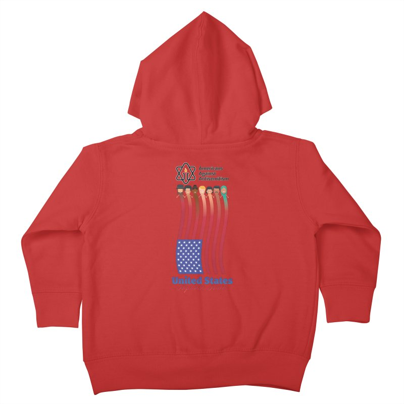 United Faces Against Hate Kids Toddler Zip-Up Hoody by Americans Against Antisemitism's Artist Shop