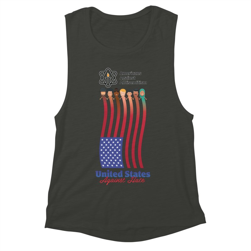 United Faces Against Hate Women's Muscle Tank by Americans Against Antisemitism's Artist Shop