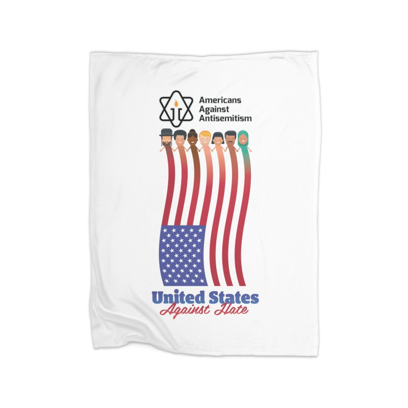 United Faces Against Hate Home Fleece Blanket Blanket by Americans Against Antisemitism's Artist Shop