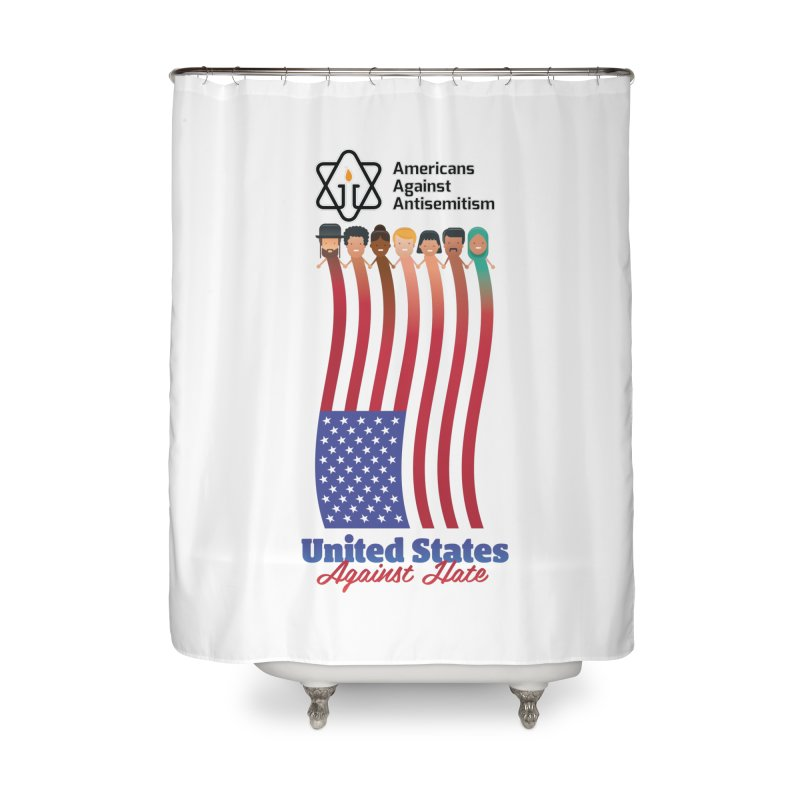 United Faces Against Hate Home Shower Curtain by Americans Against Antisemitism's Artist Shop