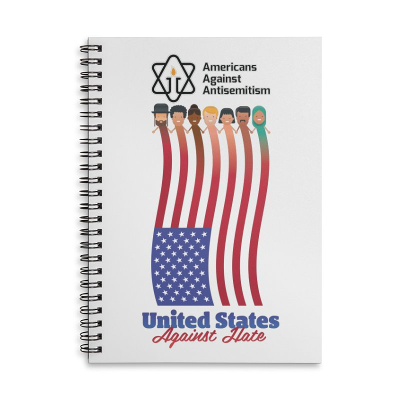 United Faces Against Hate Accessories Lined Spiral Notebook by Americans Against Antisemitism's Artist Shop