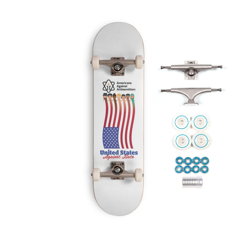 United Faces Against Hate Accessories Complete - Basic Skateboard by Americans Against Antisemitism's Artist Shop