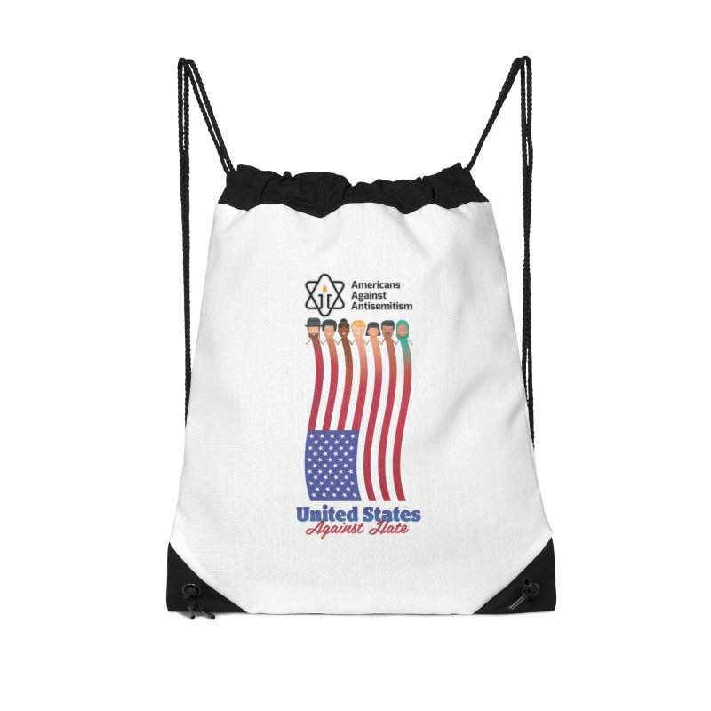 United Faces Against Hate Accessories Drawstring Bag Bag by Americans Against Antisemitism's Artist Shop