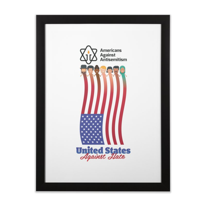 United Faces Against Hate Home Framed Fine Art Print by Americans Against Antisemitism's Artist Shop