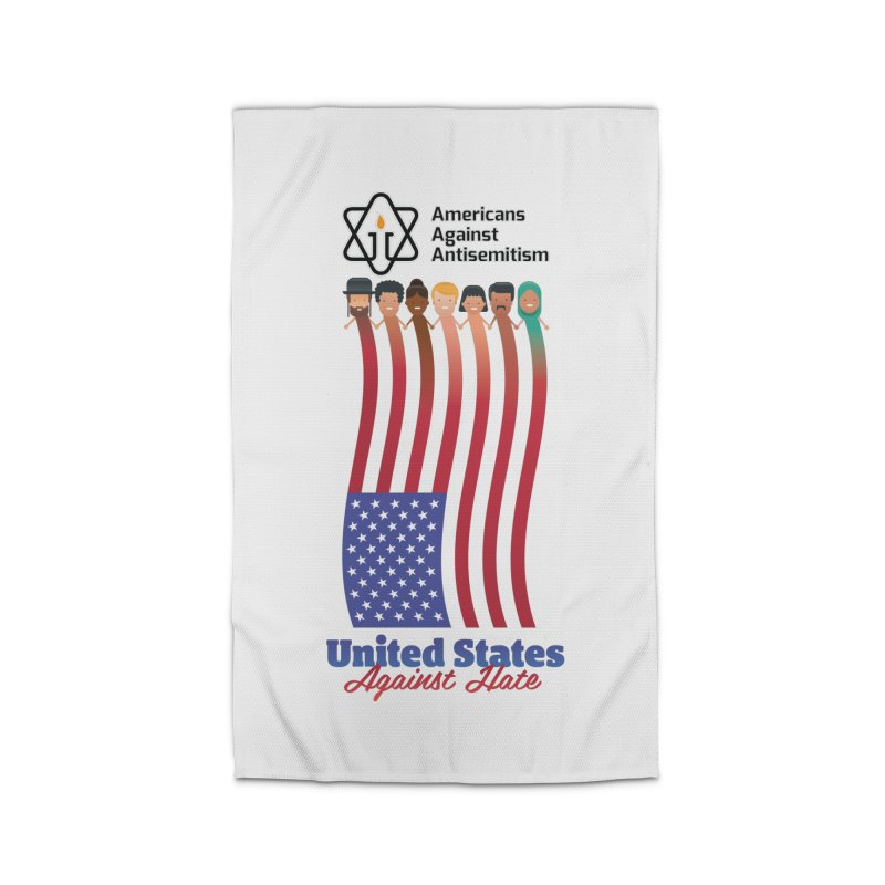 United Faces Against Hate Home Rug by Americans Against Antisemitism's Artist Shop
