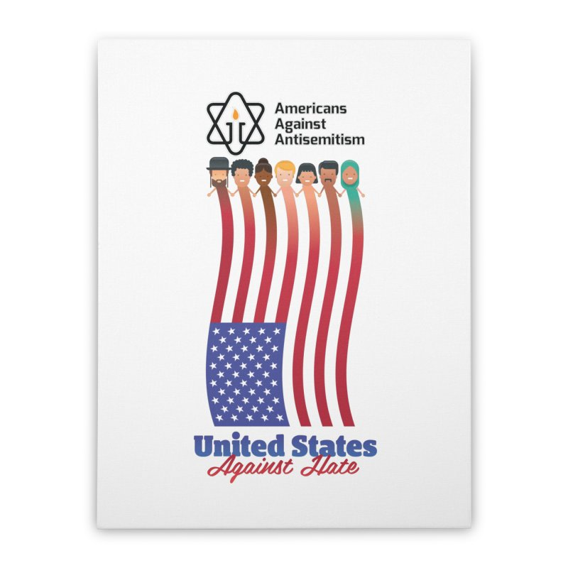 United Faces Against Hate Home Stretched Canvas by Americans Against Antisemitism's Artist Shop